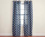 Brinson Navy Geo Curtain Panel Pair 84in lifestyle