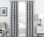 Brock Charcoal Geo Blackout Single Curtain Panel 63 inch lifestyle