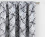 Brock Charcoal Geo Blackout Single Curtain Panel 84 inch lifestyle