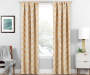 Brock Gold Geo Blackout Single Curtain Panel 63 inch lifestyle