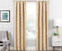 Brock Gold Geo Blackout Single Curtain Panel 84 inch lifestyle