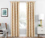 Brock Gold Geo Blackout Single Curtain Panel 95 inch lifestyle