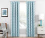 Brock Teal Geo Blackout Single Curtain Panel 63 inch lifestyle
