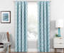 Brock Teal Geo Blackout Single Curtain Panel 84 inch lifestyle
