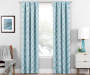 Brock Teal Geo Blackout Single Curtain Panel 95 inch lifestyle