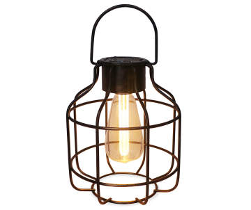 Wilson Fisher Bronze Edison Bulb Cage Battery Operated Led Lantern
