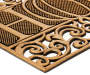 Bronze Home Sculpted Outdoor Doormat 18 inch x 30 inch silo corner flip
