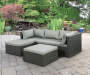 Brook 3 Piece All Weather Wicker Sectional with Ottoman lifestyle
