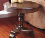 Brookfield Dark Brown Round End Table lifestyle
