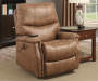 Brown Faux Leather Dual Motor Lift Chair lifestyle