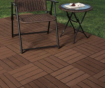 Wilson Fisher Brown Faux Wood Interlocking Deck Patio Tiles 10 Pack Lots