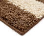Brown Shag Striped Multi Shade Accent Rug 2 feet 3 inch x 3 feet 9 inch silo front corner