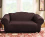 Brown Stretch Loveseat Slipcover