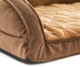 Brown and Tan Orthopedic Quilted Couch Pet Bed 27 inches by 36 inches Silo Cushion Detail