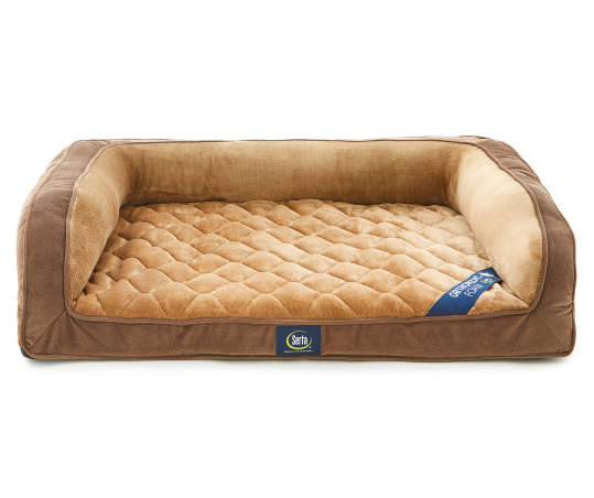 Serta Brown Tan Orthopedic Quilted Couch Pet Bed 27 X 36 Big Lots