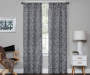 Bryon Black Damask Blackout Single Curtain Panel 84 inch lifestyle