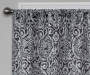 Bryon Black Damask Blackout Single Curtain Panel 95 inch lifestyle
