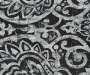 Bryon Black Damask Blackout Single Curtain Panel 95 inch swatch