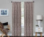 Bryon Espresso Damask Blackout Single Curtain Panel 63 inch lifestyle