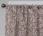 Bryon Espresso Damask Blackout Single Curtain Panel 84 inch lifestyle