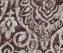 Bryon Espresso Damask Blackout Single Curtain Panel 84 inch swatch