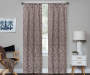 Bryon Espresso Damask Blackout Single Curtain Panel 95 inch lifestyle