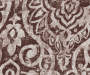 Bryon Espresso Damask Blackout Single Curtain Panel 95 inch swatch