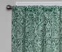 Bryon Forest Damask Blackout Single Curtain Panel 95 inch lifestyle