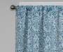 Bryon Ocean Teal Damask Blackout Single Curtain Panel 84 inch lifestyle