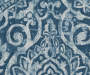 Bryon Ocean Teal Damask Blackout Single Curtain Panel 84 inch swatch