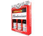 Budweiser BBQ Sauce and Basting Brush 4 Piece Gift Set silo angled in package