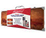 Budweiser Grilling Set with Wood Carrying Case 5 Pack silo angled in package