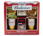 Budweiser Pint Glass and Game Night 6 Piece Gift Set silo front in package