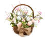 Bunny and Egg Springtime Wall Basket Silo Front View