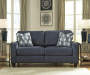 Burgos Navy Blue Sofa lifestyle living room