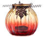 Burgundy Pumpkin Glass Votive Candle Holder silo front