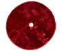 Burgundy Red Long Faux Fur Tree Skirt 48 inch silo top view