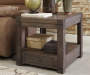 Burladen Brown End Table silo front