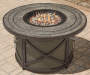 CANYON 43 IN ROUND FIRE PIT TABLE WITH LAZY SUSAN