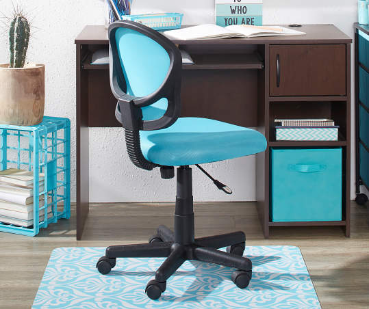 Just Home Capri Blue Mesh Office Chair Big Lots