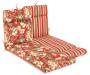 CAPULET RED FLORAL CHAISE CUSHION