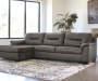 CARRILLO GREY LAF CHAISE SECTIONAL