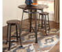 CHALLIMAN PAIR OF COUNTER HEIGHT BARSTOOLS