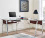 CHERRY WITH GLASS TOP L DESK lifestyle