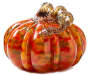 COLOR SPOTTED GLASS PUMPKIN
