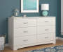 CRESCENT POINT 6 DRAWER IVORY  DRESSER lifestyle