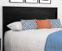 CRESCENT POINT BLACK QUEEN HEADBOARD silo