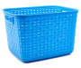 Cabana Blue Tall Weave Basket silo front