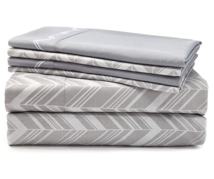 Cameron Gray 6-Piece King Sheet Set Silo