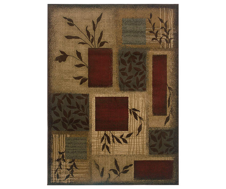 Cantrell Beige Area Rug 3 Feet 2 Inches by 5 Feet 7 Inches Overhead View